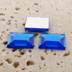 Sapphire Jewel Faceted - 15mm. Square Cabochons - Lots of 144