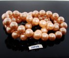 PEACH 14MM ROUND SMOOTH JAPANESE PEARLS - Lot of 56