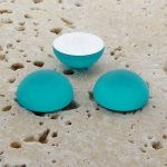 Aqua Matte Frosted - 13mm. Round Domed Cabochons - Lots of 144