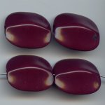 BURGUNDY 28X24MM FLAT ROUNDED EDGE RETANGLE BEADS - Lot of 12