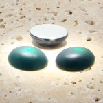 Emerald Matte Frosted - 8x6mm. Oval Cabochons - Lots of 144