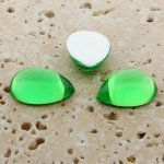 Peridot Jewel - 13x8.5mm. Pear Domed Cabochons - Lots of 144