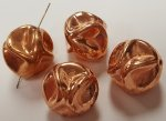 15mm. COPPER COATED ROUND BAROQUE NUGGET BEADS - Lots of 12