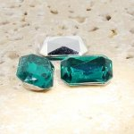 Teal Jewel -14x10mm. Octagon Faceted Gem Jewels - Lots of 144