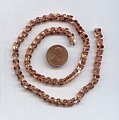 TWISTED PADDLE COPPER COATED 6MM VINTAGE CHAIN - PRICED PER FOOT