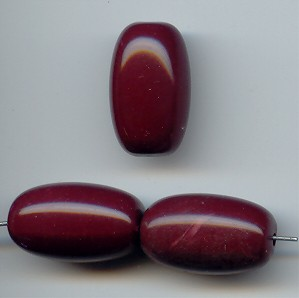 BURGUNDY 23X14MM SMOOTH OVAL BEADS - Lot of 12