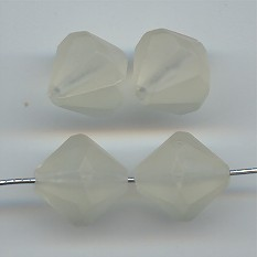 CRYSTAL MATTE 15MM BICONE FACETED BEADS - Lot of 12