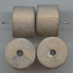 GOLD MATTE WASH 14X18MM BARREL SMOOTH BEADS - Lot of 12