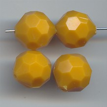 OCKER 14MM ROUND FACETED BEADS - Lot of 12