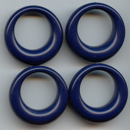 NAVY BLUE 36MM ROUND 1-HOLE PENDANTS - Lot of 12