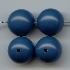 PERIWINKLE BLUE 16MM SMOOTH ROUND BEADS - Lot of 12