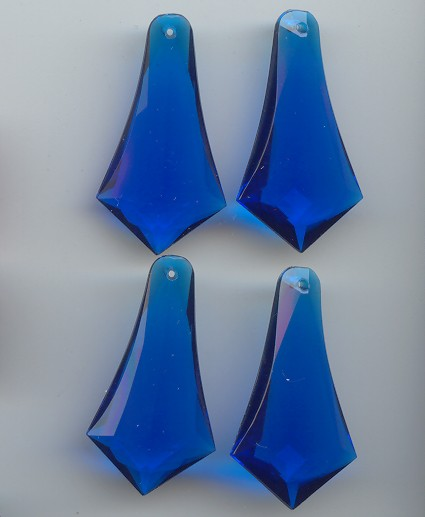 SAPPHIRE 42X22MM POINTED DROP FACETED PENDANTS - Lot of 12