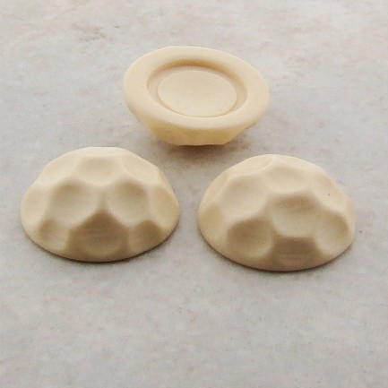 Ivory Opaque Baroque Domed - 18mm. Cabochons - Lots of 144