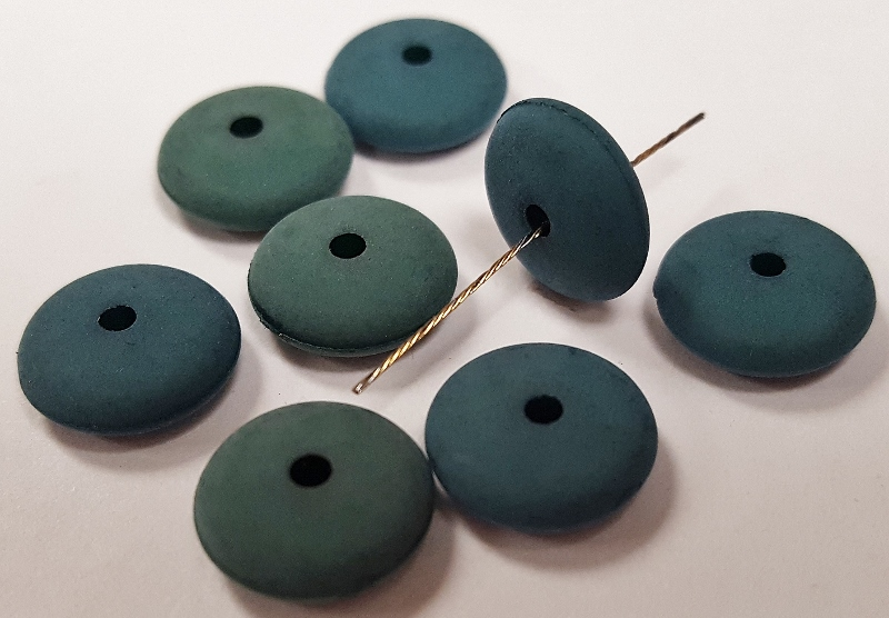 HUNTER GREEN MATTE 4x10mm. SMOOTH TIRE SPACER BEADS - Lots of 12