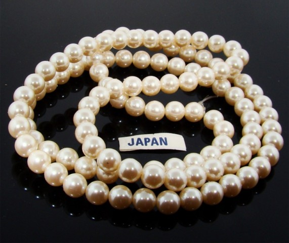 CULTURA 7MM ROUND SMOOTH JAPANESE PEARLS - Lot of 111