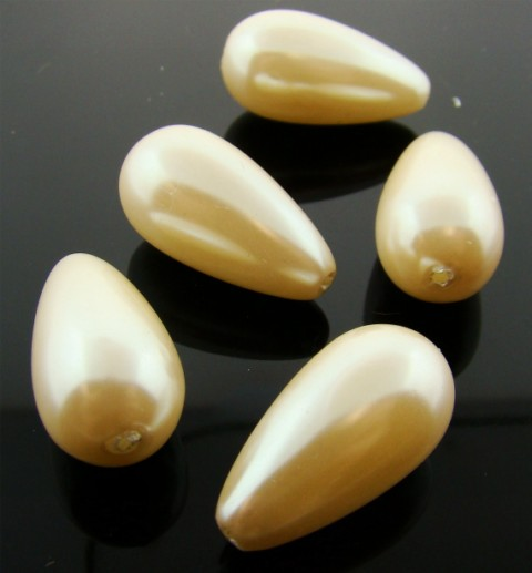CULTURA 22X12MM TEAR DROP SMOOTH JAPANESE PEARLS - Lot of 12