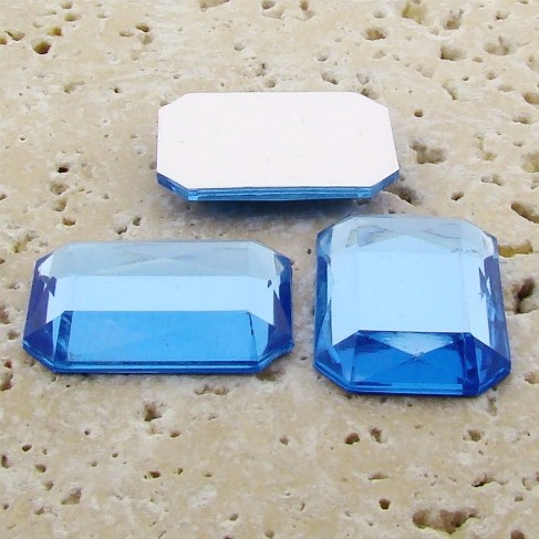Light Sapphire Faceted - 40x30mm Octagon Cabochons - Lots of 12