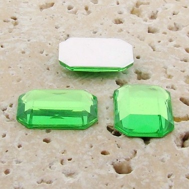 Peridot Jewel Faceted - 25x18mm. Octagon Cabochons - Lots of 72