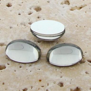 Black Diamond Jewel - 18x13mm. Oval Cabochons - Lots of 144