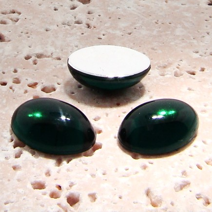 Emerald Jewel - 18x13mm. Oval Domed Cabochons - Lots of 144
