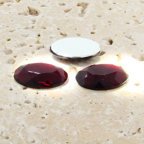 Garnet Jewel Faceted - 14x10mm. Oval Cabochons - Lots of 144