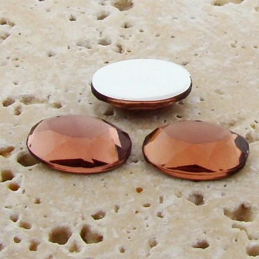 Topaz Jewel Faceted - 25x18mm. Oval Domed Cabochons - Lots of 72