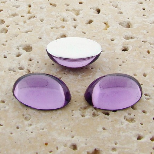 Light Amethyst Jewel - 12x10mm. Oval Cabochons - Lots of 144