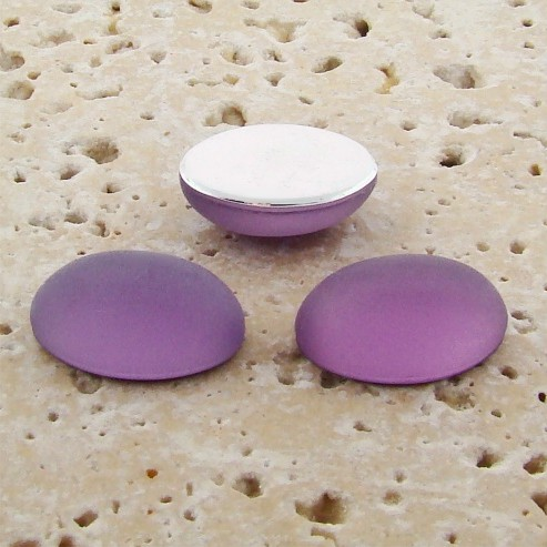 Light Amethyst Matte Frosted - 8x6mm Oval Cabochons - Lot of 144
