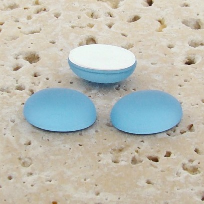 Light Sapphire Frosted - 18x13mm. Oval Cabochons - Lots of 144