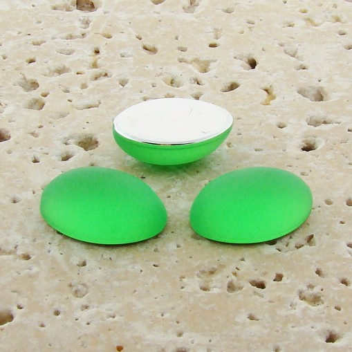 Peridot Matte Frosted - 8x6mm Oval Domed Cabochons - Lots of 144