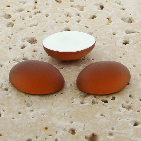 Topaz Matte Frosted - 18x13mm. Oval Cabochons - Lots of 144