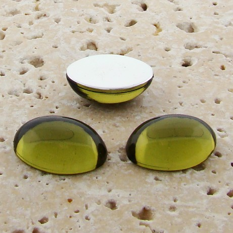 Olivine Jewel - 14x10mm. Oval Domed Cabochons - Lots of 144