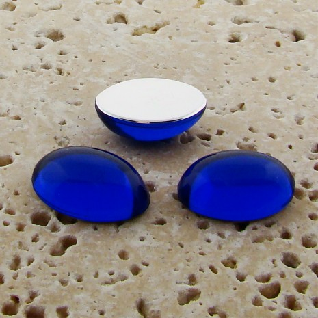 Sapphire Jewel - 18x13mm. Oval Domed Cabochons - Lots of 144