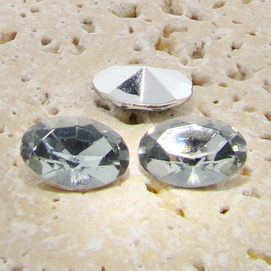 Black Diamond - 18x13mm. Oval Faceted Gem Jewels - Lots of 144