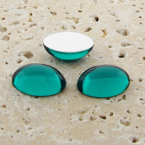 Teal Jewel - 18x13mm. Oval Domed Cabochons - Lots of 144