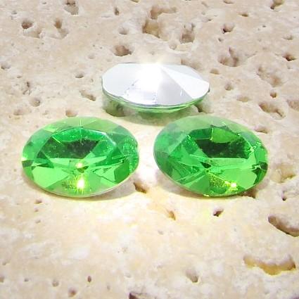 Peridot Jewel - 10x8mm. Oval Faceted Gem Jewels - Lots of 144