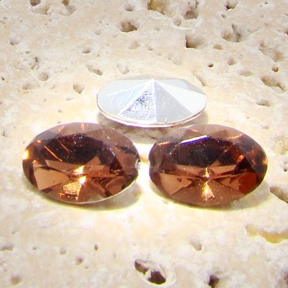 Topaz Jewel - 25x18mm. Oval Faceted Gem Jewels - Lots of 72