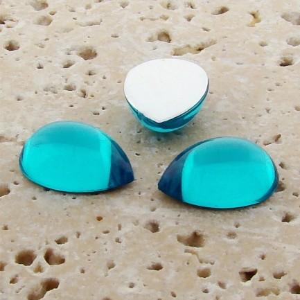 Aqua Jewel - 18x13mm. Pear Domed Cabochons - Lots of 144