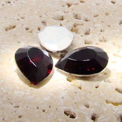 Garnet Jewel - 18x13mm. Pear Faceted Gem Jewels - Lots of 144