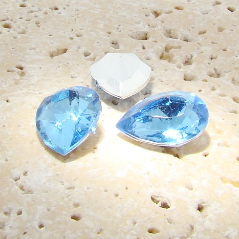 Light Sapphire - 18x13mm. Pear Faceted Gem Jewels - Lots of 144