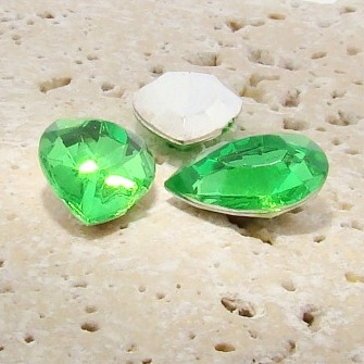 Peridot Jewel - 18x13mm. Pear Faceted Gem Jewels - Lots of 144