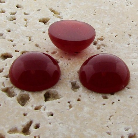 Cornelian Opaque - 7mm. Round Domed Cabochons - Lots of 144