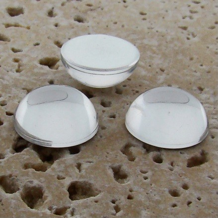 Crystal Jewel - 13mm. Round Domed Cabochons - Lots of 144