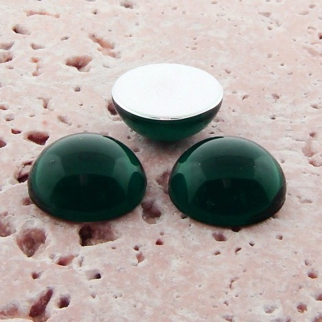 Emerald Jewel - 9mm. Round Domed Cabochons - Lots of 144
