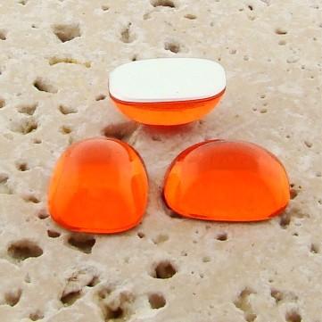 Orange Jewel - 15x11.5mm. Rectangle Cabochons - Lots of 144