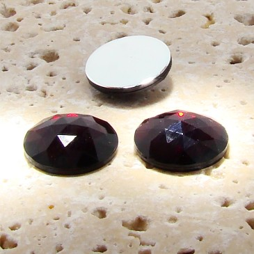 Garnet Jewel Multi Faceted - 13mm Round Cabochons - Lots of 144