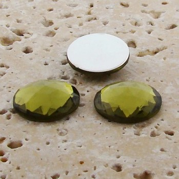 Olivine Jewel Multi Faceted - 18mm Round Cabochons - Lots of 144
