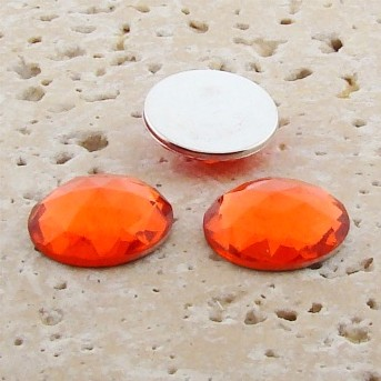 Orange Jewel Multi Faceted - 11mm Round Cabochons - Lots of 144