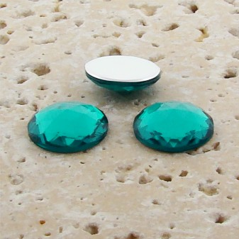 Teal Jewel Multi Faceted - 20mm Round Cabochons - Lots of 72