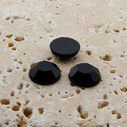 Jet Faceted - 11mm Round Cabochons - Lots of 144